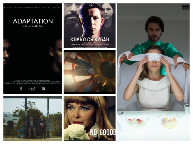 Clockwise from up-left: Adaptation, You Are Beautiful, The Test, No Goodbye, Bus 43. Middle: In Ribbons.